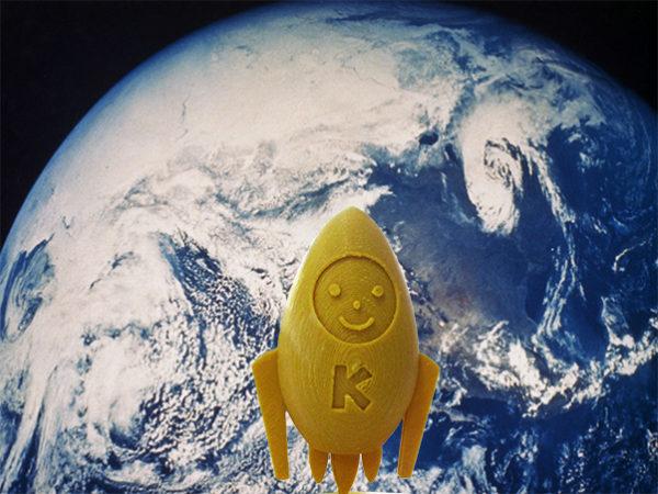 くるめ創業ロケットキャラクター「くるット」を制作しました。