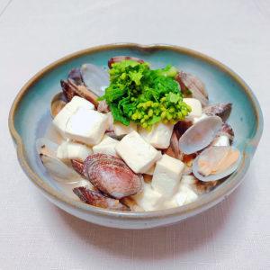 豆腐とあさりの炒め物